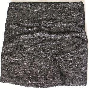 BCBGeneration Skirts - BCBGeneration NWT Gunmetal Textured Mini Skirt